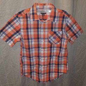Boy's Chaps button down short sleeve shirt szM